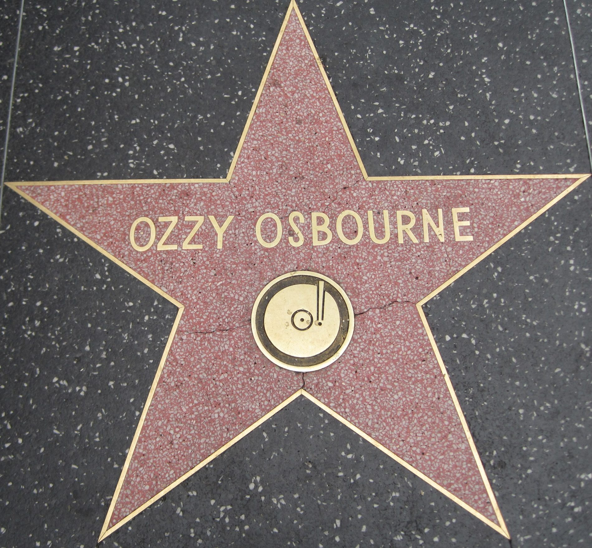 Ozzy Osbourne's Star at the Hollywood Walk of Fame