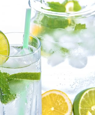 drink, glass, lime