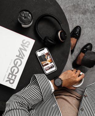 Iphone 6 on black table