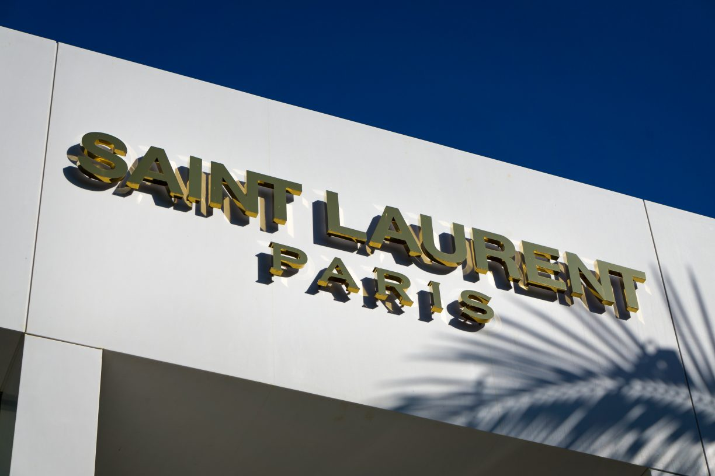Saint Laurent Paris Retail Store exterior